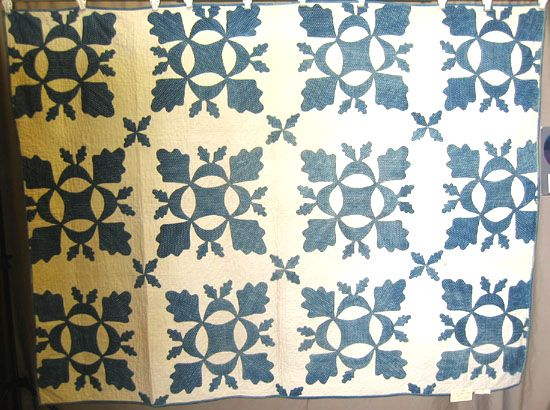 The Quilt Index Applique Oak Leaves And Acorns Hickory