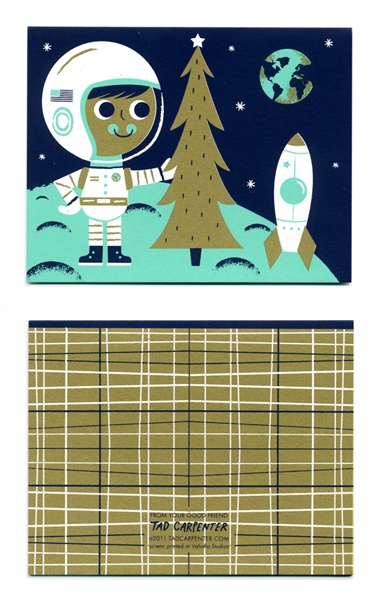 2011 silkscreen holiday card by Tad Carpenter