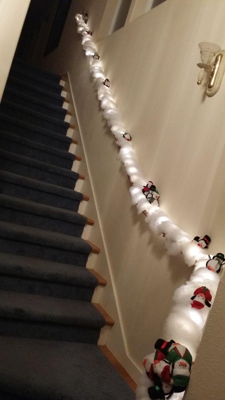 Best banister christmas decorations ideas on pinterest