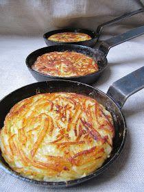 Appelées pommes paillasson ou pommes darphin, elles se préparent avec des pommes de terre crues que l'on râpe de préférence à la mandoline....