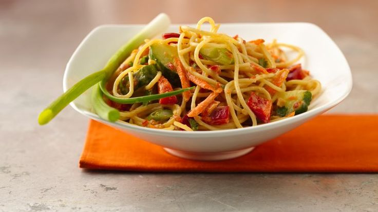 Go vegetarian with this easy Asian noodle salad that's ready is just 30 minutes.