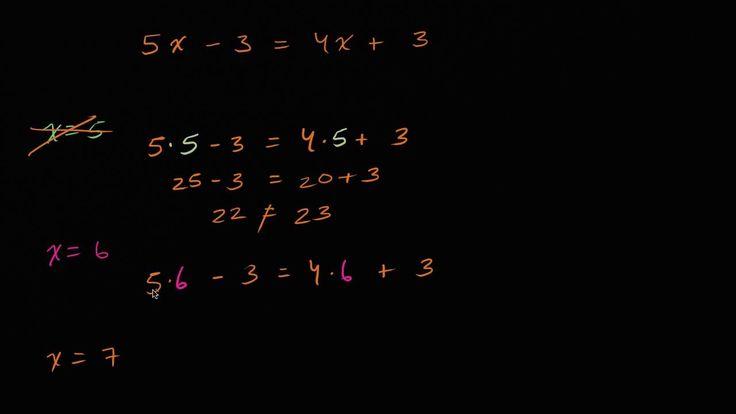 Probando soluciones para ecuación