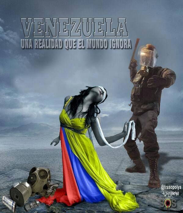 """Venezuela a reality that the world ignores"" (facebook) Mayday Venezuela"