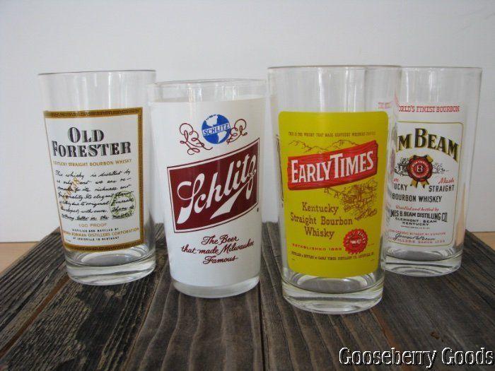 Vtg Mixed Lot 4 Retro Mid-Century Highball Bar Glasses Barware Cocktail Tiki #retro #midcentury #mancave