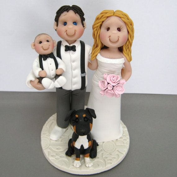 222 best Wedding Cake Toppers images on Pinterest Polymer clay