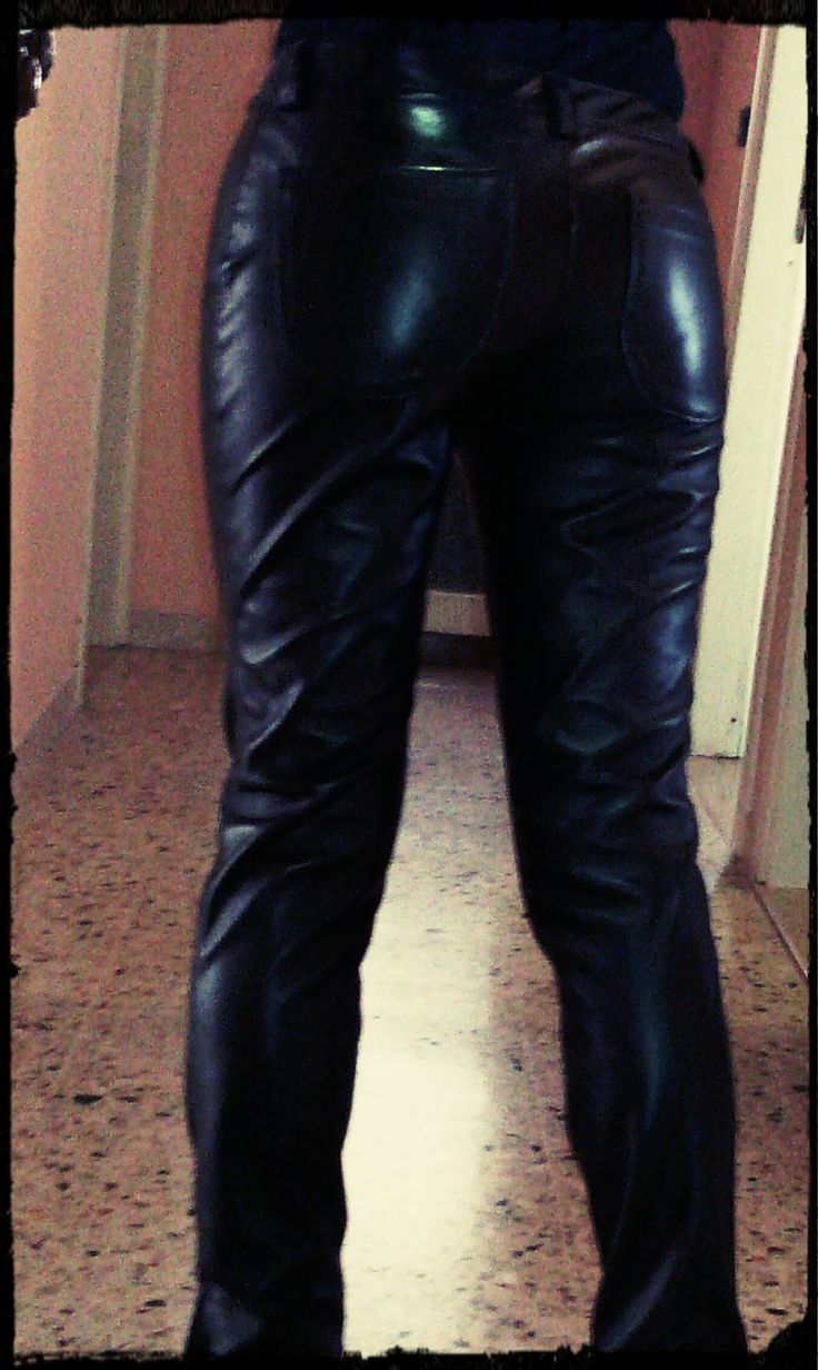 pantalone ecopelle dietro  ecoleather pants back detail