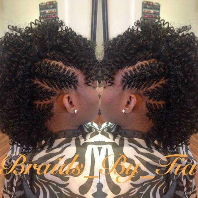 Fishbone braid with Mohawk
