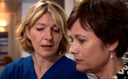 Holby City (18/48) Bernie (Jemma Redgrave) and Serena (Catherine Russell)