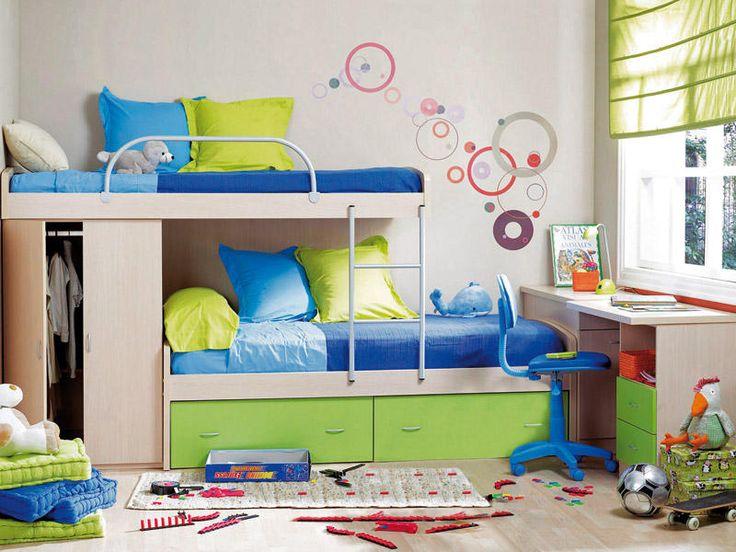 17 mejores ideas sobre camas dobles para ni os en - Ideas habitaciones ninos ...