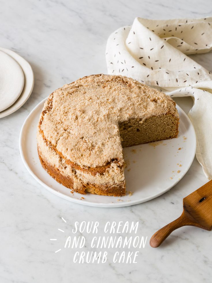 Sour Cream and Cinnamon Crumb Cake: Crumb Cakes, Cakes Foodblog, Spoons Forks Bacon, Pasta Recipes, Sourcream, Cakes Recipes, Food Blog, Sour Cream Cinnamon Crumb Cak, Cake Recipes