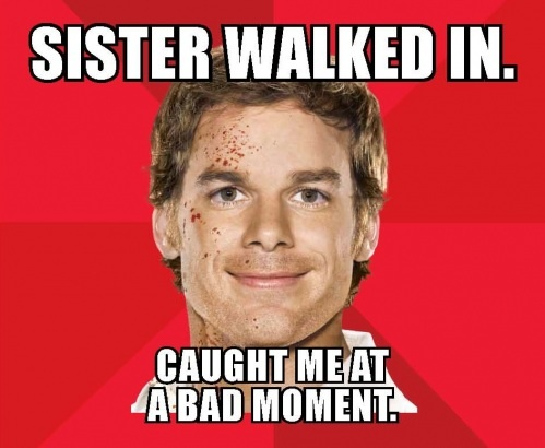 Can't hardly wait for the new season of Dexter!!