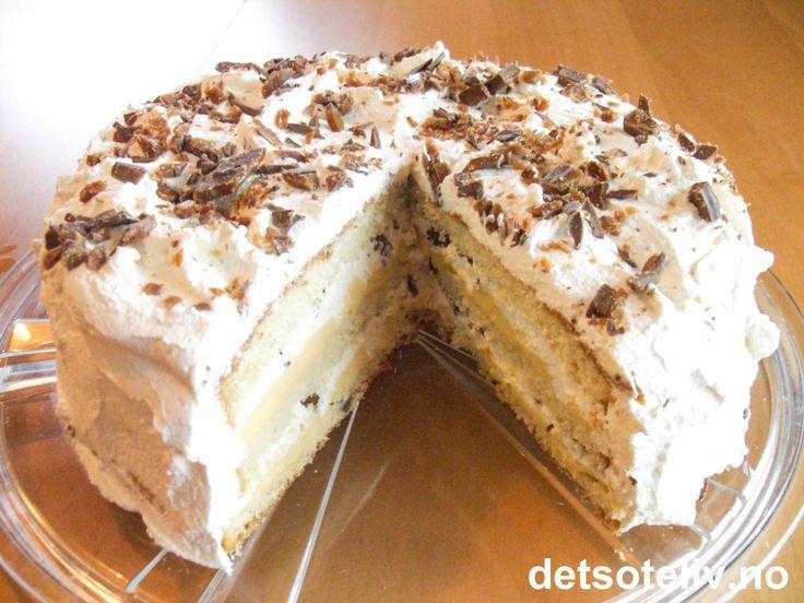 Bløtkake med karamellpudding og Daim | Det søte liv