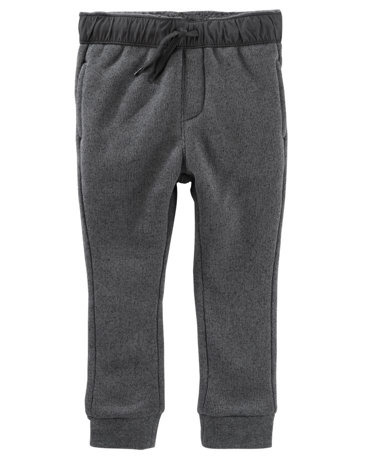 Toddler Boy Sweater-Faced Fleece Pants | OshKosh.com