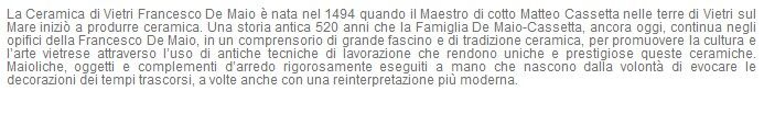 Ceramica Francesco De Maio ad #Arkeda #rassegnastampa #vietriceramic tratto da http://www.gazzettadisalerno.it/2015/11/27/ceramica-vietri-francesco-de-maio-ad-arkeda-rovere-maiolicato/