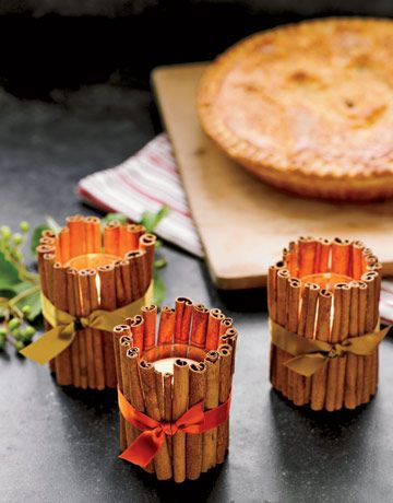 cinnamon stick tea lights.  I bet these make the house smell so good!