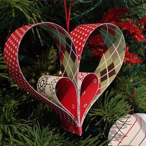 Christmas Ornament Heart Shaped | Home Crafts
