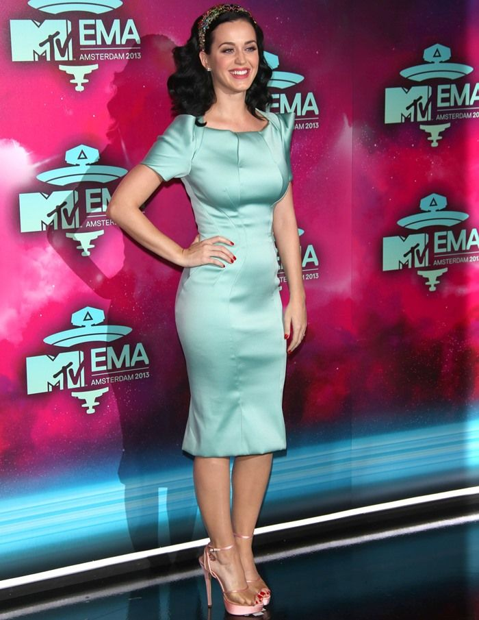 Katy Perry at the Ziggo Dome for the 20th MTV Europe Music Awards in Amsterdam, Netherlands, on November 10, 2013