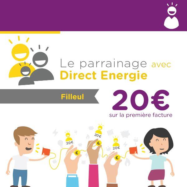 Profitons de l'offre de parrainage Direct Energie ! gagnez jusqu'à 400€ chaque année