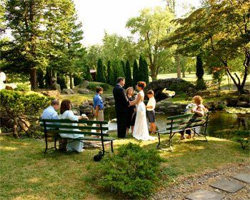 Small garden wedding ceremonies in Canandaigua NY at Sonnenberg Gardens & Mansion