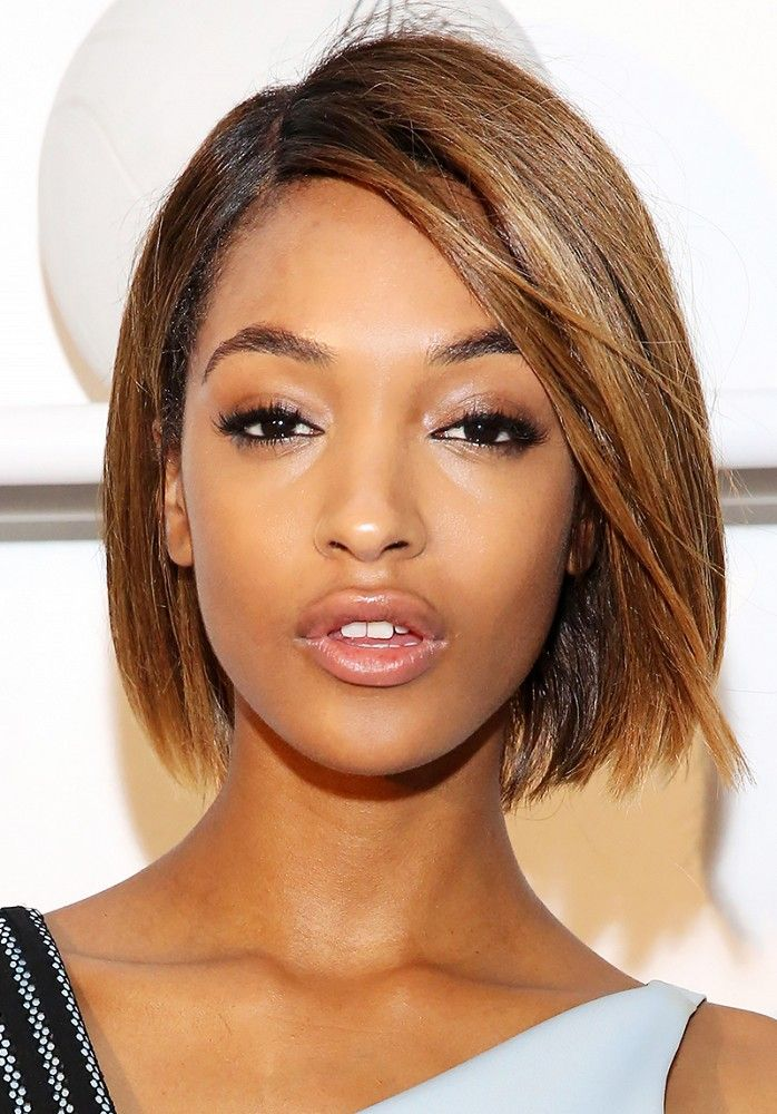 Jourdan Dunn rocks a dewy, glossy look