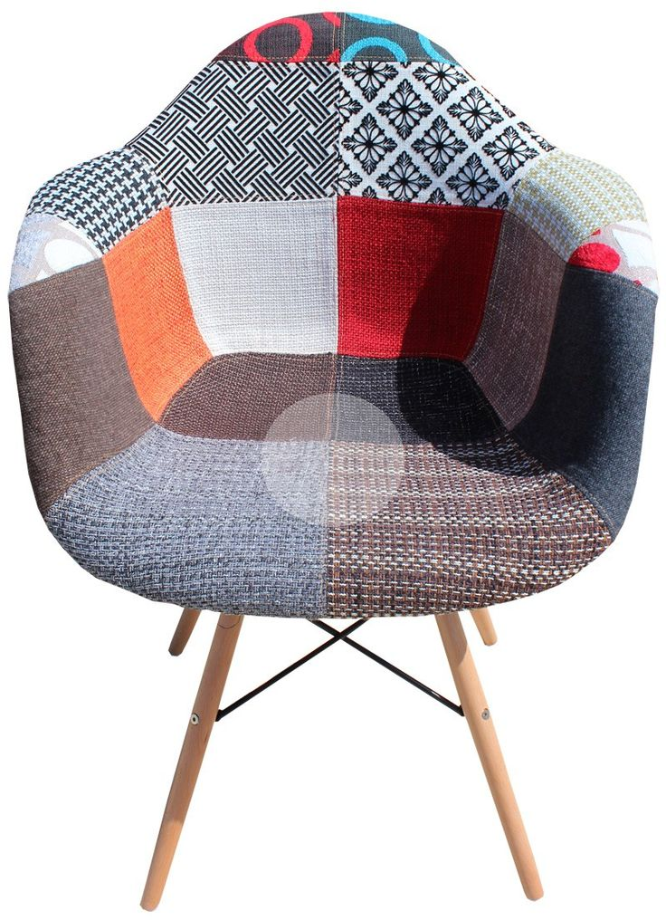 DAW Eames Chair Replica   Vintage Patchwork Chair Timber25  best Eames chair replica ideas on Pinterest   Eames chairs  . Eames Dsw Dsr Dss Faux Leather Seat Pad. Home Design Ideas