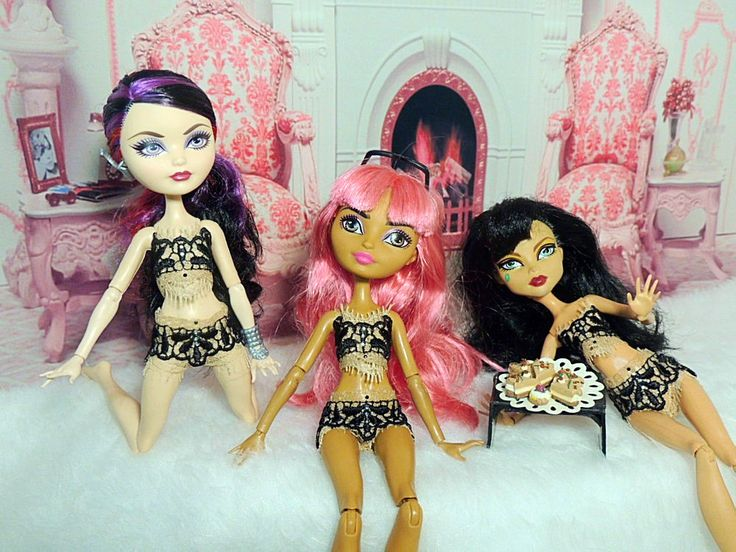 Underwear set for dolls Monster High, Ever After High by Dress4bjd on Etsy