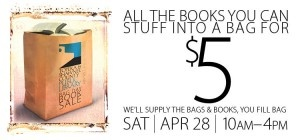 Book bargain shoppers can stuff brown grocery bags (provided) full of books for just $5 a bag at the Friends of the Topeka and Shawnee County Public Library Bag Day Book Sale Sat., April 28 from 10am–4pm.: Books Sales, Books Bargain