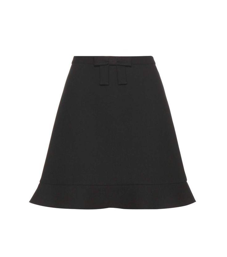 RED VALENTINO Crêpe Miniskirt. #redvalentino #cloth #skirts
