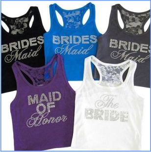 Bling Bride & Bridesmaid tanks