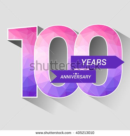 100 Years Anniversary with Low Poly Design