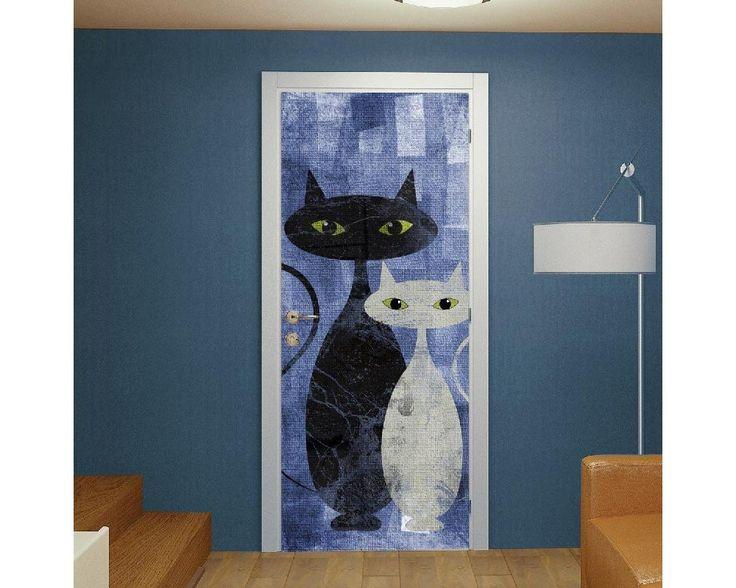 The cats blue,αυτοκόλλητο πόρτας , δείτε το!