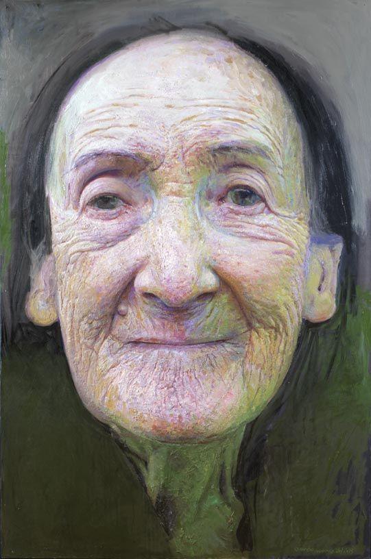 Ultimo retrato  Oleo sobre tabla  166x110 cm. invierno del 2013 - Golucho