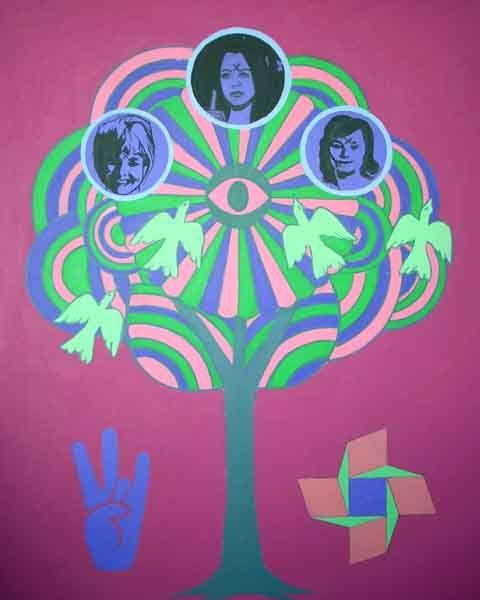 A TREE, Acrylic on canvas, 40 x 50 cms., 2010