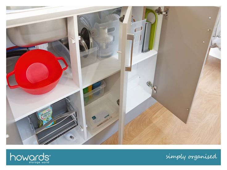 Lower cupboards pose an interesting challenge in a caravan. They are often deep and narrow. See Howards Caravan Makeover Fact Sheet for storage ideas.