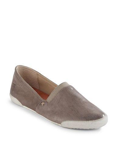 Shoes | Sneakers  | Melanie Slip-On Leather Sneakers | Hudson's Bay
