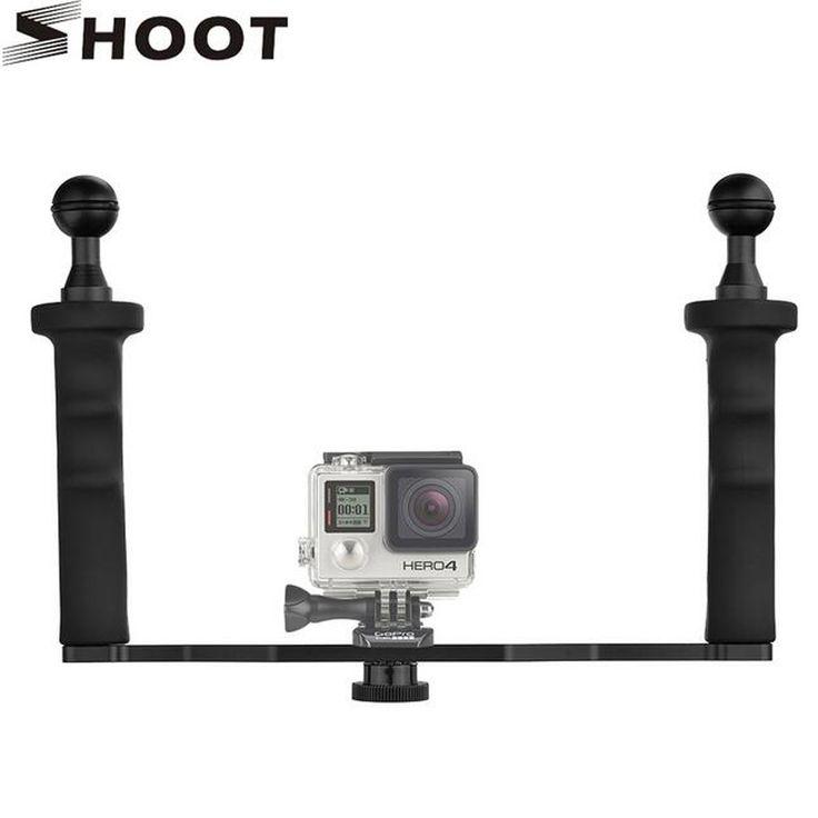 >> Click to Buy << gopro 5 4 3 xiaomi yi 4K sjcam SJ4000 Tripod for Nikon Camera Aluminum Alloy Waterproof Handheld Stabilizer Mount  #Affiliate