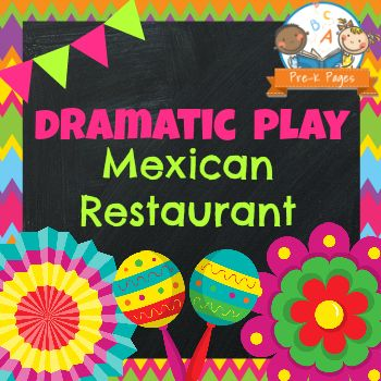 Dramatic Play Mexican Restaurant Printable Kit