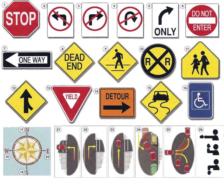 Traffic signs and giving directions English lesson in PDF with conversation