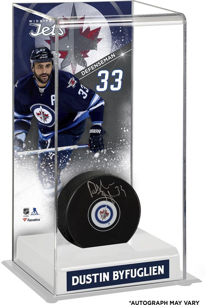 3c030a95f61 Dustin Byfuglien Winnipeg Jets Signed Puck with Deluxe Tall Puck Case -  Fanatics