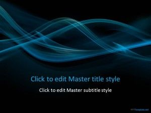 Free Abstract Dark Smoke PPT Template
