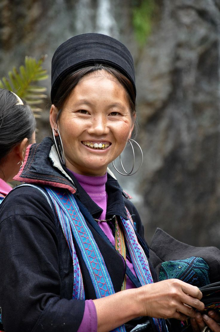 A local woman selling her embroidery at Cat Cat Falls, Vietnam