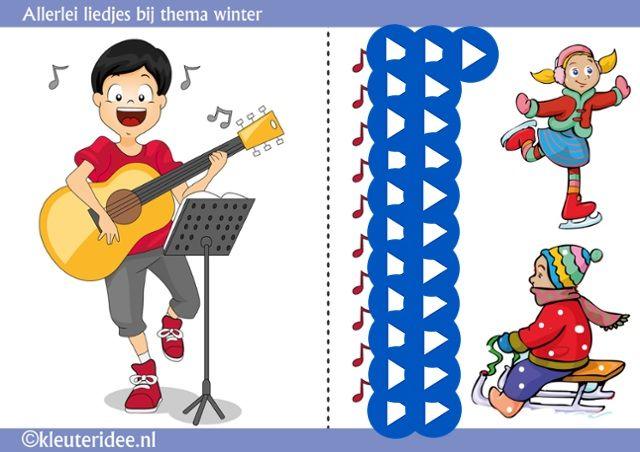 Interactieve liedlijst thema winter, by juf Petra van kleuteridee, met veel leuke video's met winterliedjes