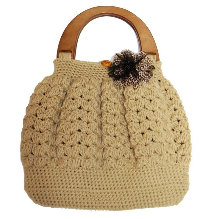 Crochet Bag Handle Cover Pattern : 39 best images about Borse fettuccia on Pinterest ...