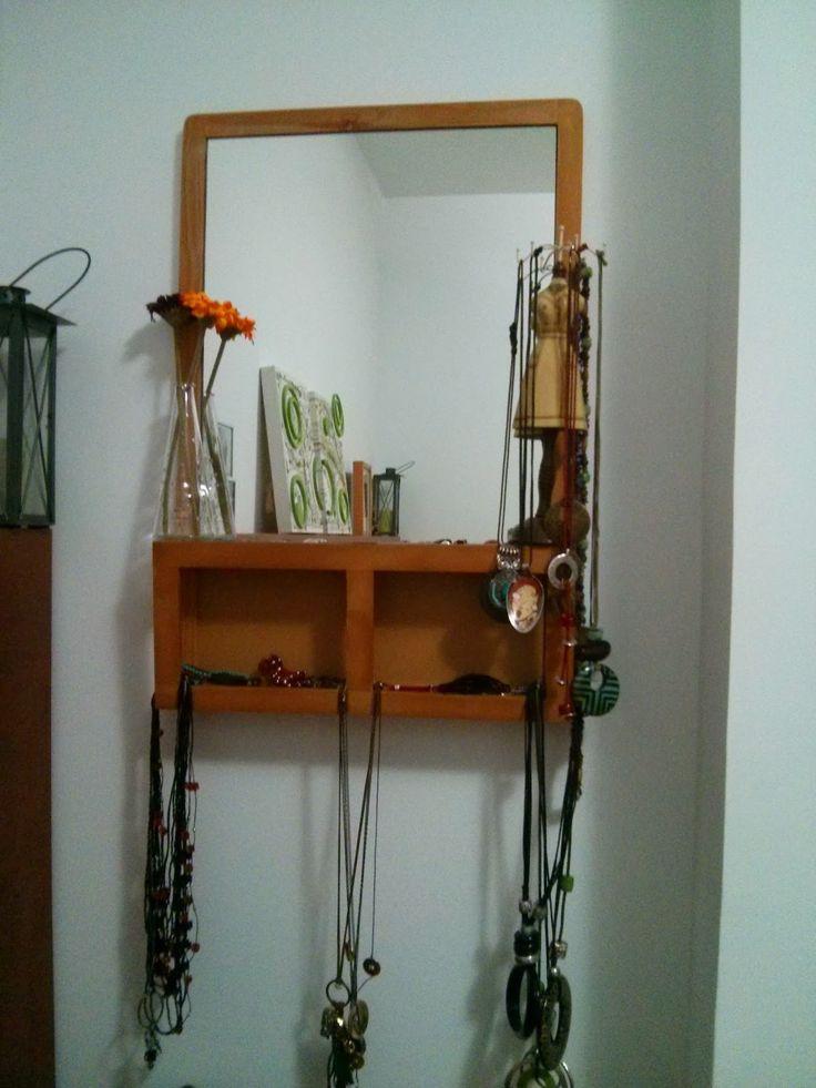 Joyero de pared con la pizarra luns jewelry organizer - Pizarra de pared ikea ...