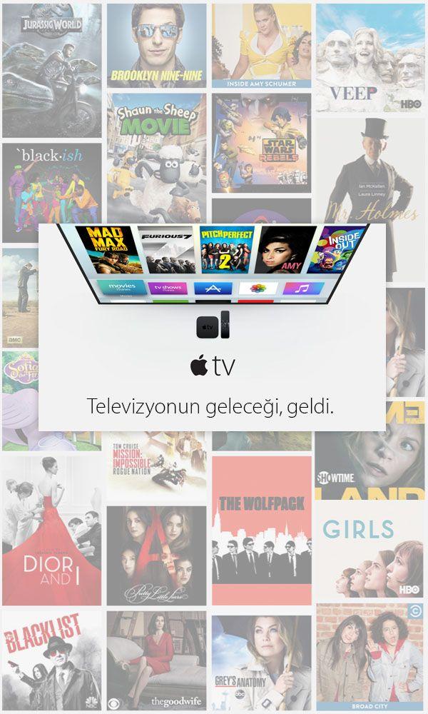 #AppleTV, uygulamalar aracılığıyla en sürükleyici eğlence içeriklerine erişmenizi sağlıyor. Popüler filmleri iTunes'dan izleyin. En sevilen üniversite liglerinden ve profesyonel liglerden spor karşılaşmalarını bulun. Son dakika haberleri ve hava durumu tahminlerine bakın. Çocuklara özel, eğlenceli içerikler, eğitime yönelik programlar, konserler ve daha fazlası için #AppleTV sizi bekliyor.