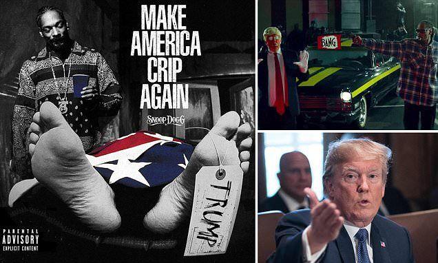 Snoop Dogg's new album cover shows a dead Donald Trump