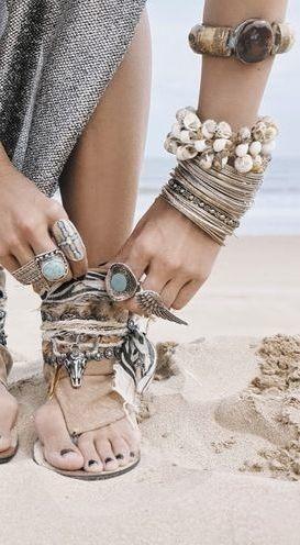 ..a bohemian at the beach..☮