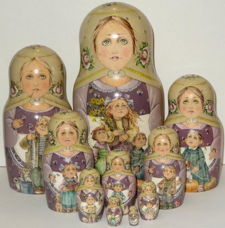 Russian Dolls  - Russian Childrens Nesting Doll, (http://www.russiandolls-boutique.com/nesting-dolls/russian-childrens-nesting-doll/)