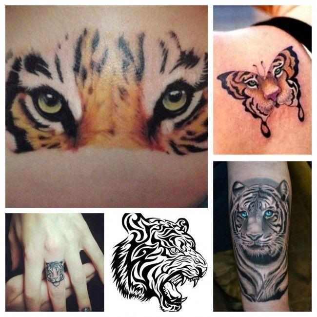 La Tigre Tatuaggio che rappresenta Forza e Coraggio
