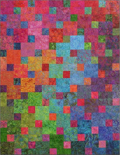 Love this colorful and simple quilt.